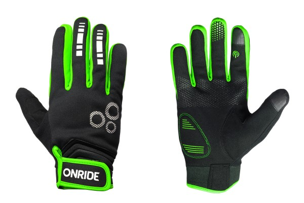 Перчатки с длинными пальцами Onride Pleasure 20, цвет -  black/green