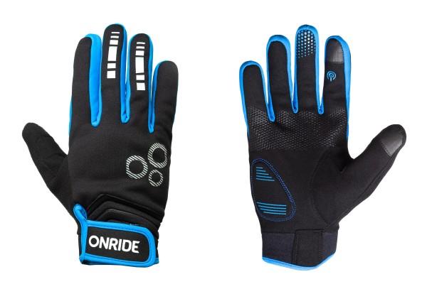 Перчатки с длинными пальцами Onride Pleasure 20, цвет -  black/blue