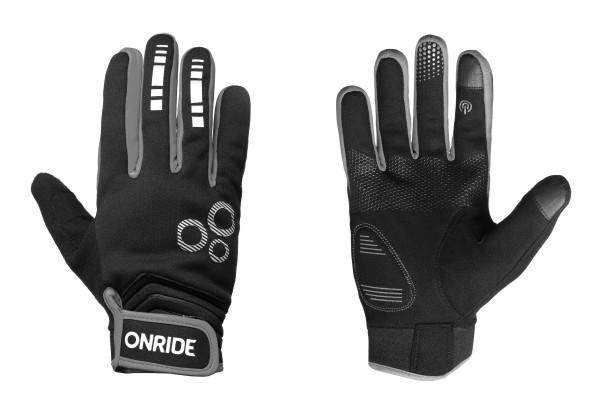 Перчатки с длинными пальцами Onride Pleasure 20, цвет -  black/grey