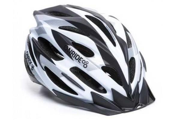 Шлем ONRIDE Grip матовый белый / черный / серый M (55-58 см)