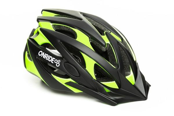 Шлем ONRIDE Cross матовый черный / зеленый L (58-61 см)