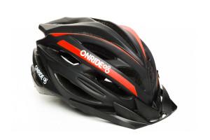 Шлем ONRIDE Grip матовый черный / красный L (58-61 см)