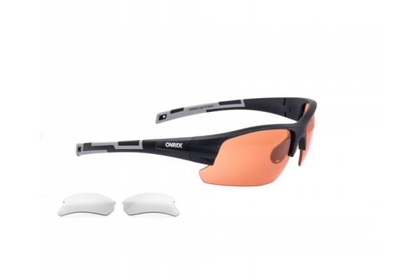 Очки Onride Lead 20 матовые черные с линзами: оранж (51%); прозрач (100%)