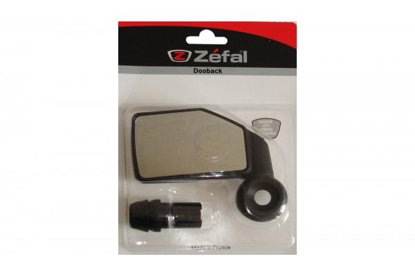 Зеркало Zefal Dooback (4700) квадр. в руль, левое, черное