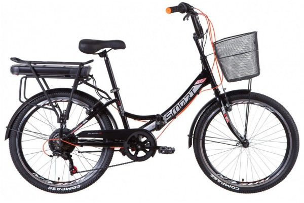 """Электровелосипед 24"""" Formula SMART 350Вт 36В редуктор. дисплей, САП, 12.5Ач с крепл. к багажн., 2021"""