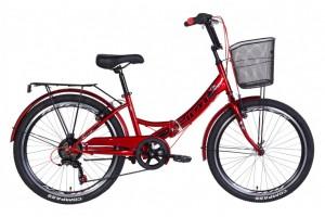"""Велосипед 24"""" Formula SMART с корзиной, трещётка 2021"""