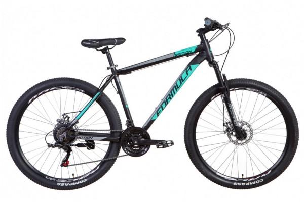 """Велосипед 27.5"""" Formula MOTION 2021 (черно-бирюзовый с серым)"""