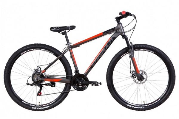 """Велосипед 29"""" Formula MOTION 2021 (серо-черный с красным)"""