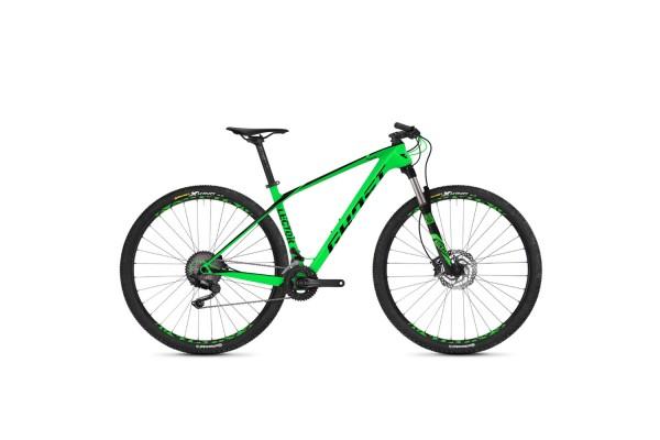 "Велосипед Ghost Lector 2.9 29"" Deore, карбон,  рама M, зелено-черный, 2018"