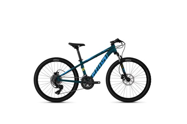 """Велосипед Ghost Kato Essential 24"""" рама one-size, синий, 2021"""