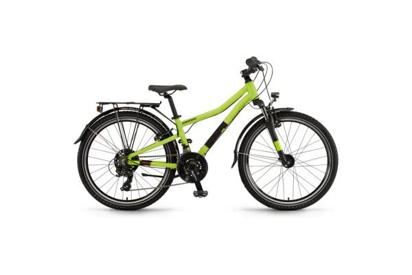 "Велосипед Winora Dash 24"" 21-G Tourney, рама 32 см, лайм матовый, 2021"