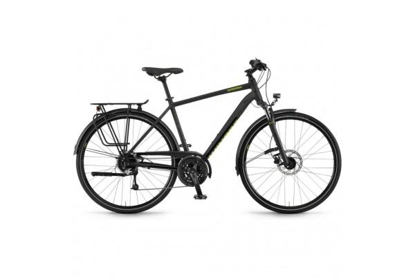 """Велосипед Winora Domingo men disc 28"""" 27-G Deore, рама 56 см, черный матовый, 2021"""